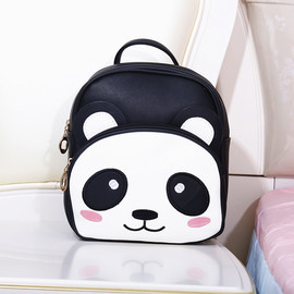 PU Panda Backpack for Kids, 4 Kinds of Colors Kids Panda Backpack, Cute Panda Backpack