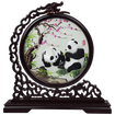 Double-sided Embroidery Panda Screen, 360 Degree Rotating Silk Embroidery Panda Screen Crafts Ornaments