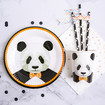 Panda Bear Party Supplies,  Panda Paper Cups, Straws, Plates and Napkins for Panda Themed Party