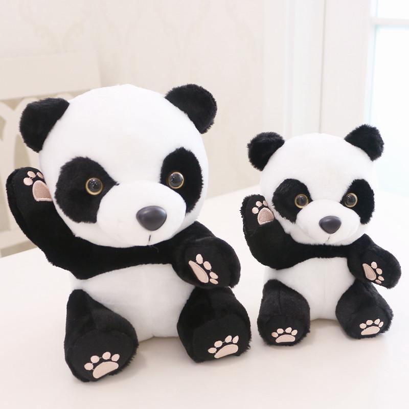 Anxiety Stuffed Animal, Panda Teddy Bear Cute Hi Panda Plush With Pink Claws In 2 Sizes