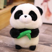 Panda Soft Toy, 18cm/7 in Cute Panda Plush with a Bamboo