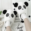 Panda Slippers, Warm and Cute Slip On Fluffy Panda Slippers for Adults