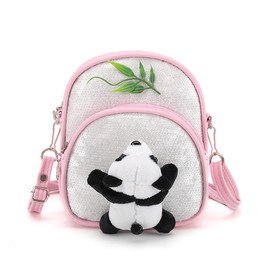 Panda backpack for kids, Preschool backpack with multi-colors