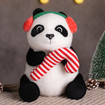 Christmas Panda Stuffed Animal, Cute Christmas Panda Plush in 3 Sizes