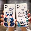 Panda iPhone Case, Blue Ray Gradient Cute Panda Case for iPhone