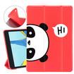 Panda iPad Cases Red Silicone Panda Folio iPad Cases