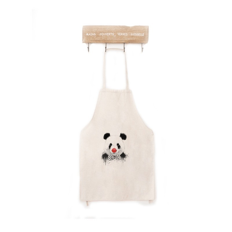 Panda Aprons, Cute Aprons, Linen Funny Apron, Kitchen Apron for Women, Men  and Kids