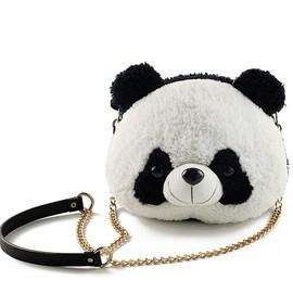 Panda Plush Bags, Adorable Panda Crossbody Bags Chain Straps Purses, Stuffed Animal Shoulder Bags for Women and Kids