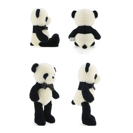 Panda Soft Toy, Bow-knot Plush Panda Stuffed Animals, Adorable Panda Toys