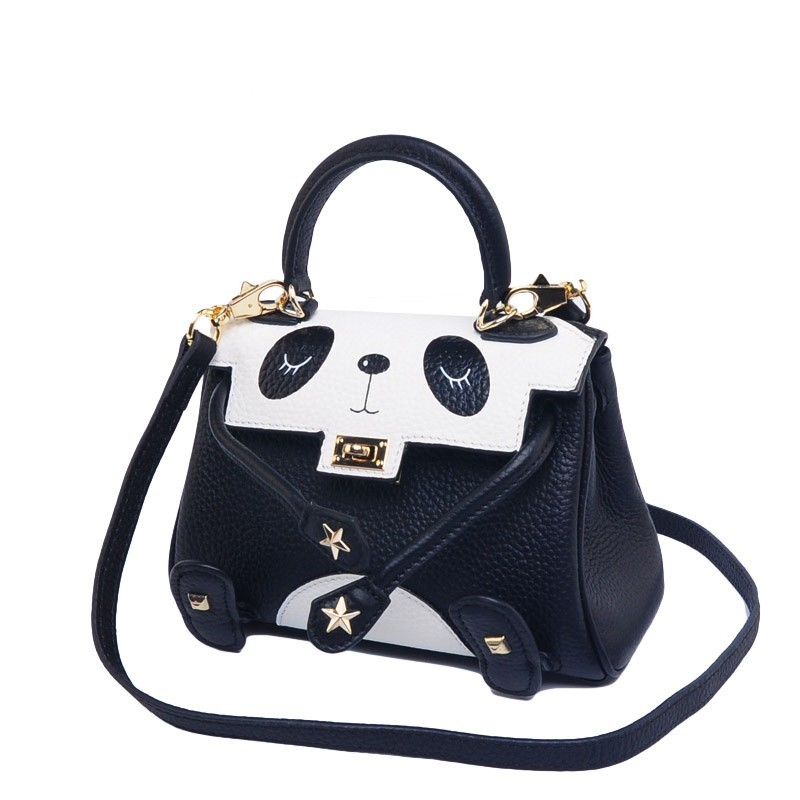 Fashion panda bags for women, leather crossbody handbags ladies bags