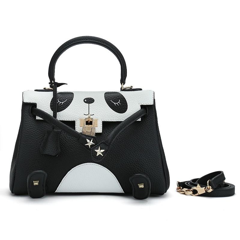 Fashion Panda Bags For Women Leather Crossbody Handbags Las
