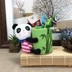 Stuffed Panda Brush Pot, Panda and Bamboo Brush Pot