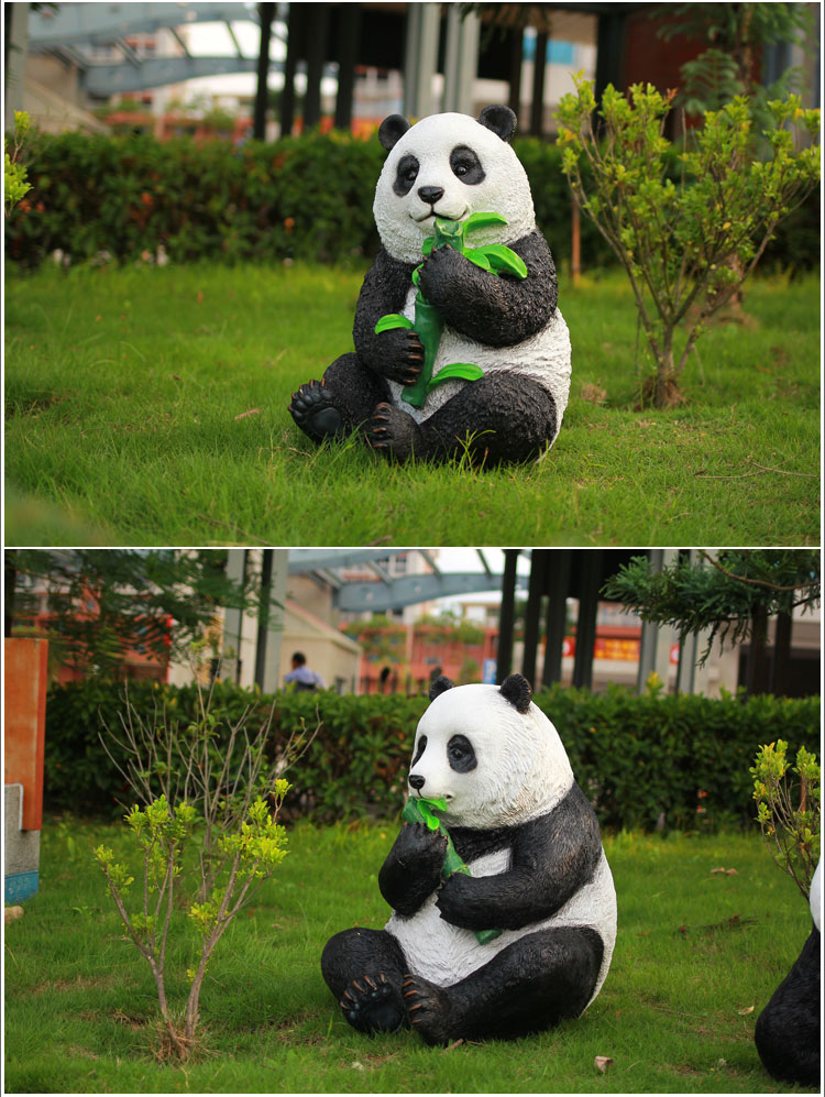 Panda Garden Statues Set Animal Ornaments