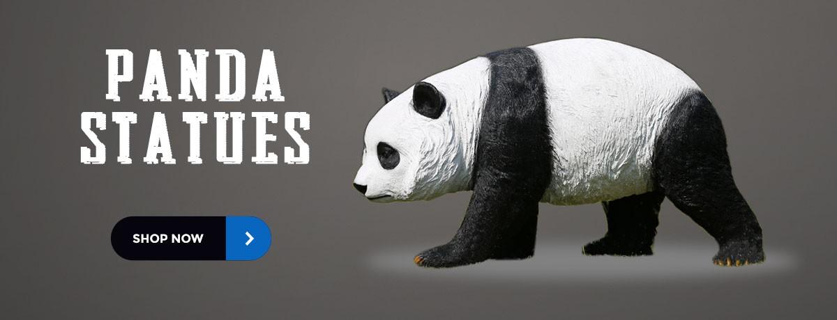 Panda statues home garden